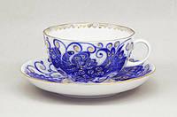 Чашка чайная с блюдцем И.Ф.З. Тюльпан Птица-Царица 250 мл 10122