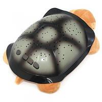 Музыкальная черепаха, ночник проектор звездное небо + АДАПТЕР в подарок