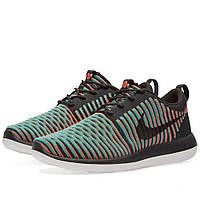 Оригинальные  кроссовки Nike Roshe Two Flyknit Black & Bright Crimson