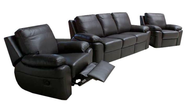 Новый кожаный комплект мебели с реклайнером PHILADELPHIA (3+1)