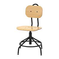 """IKEA """"КУЛЛАБЕРГ"""" Рабочий стул, сосна, черный"""