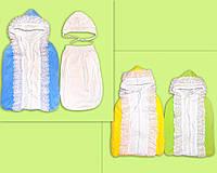 Конверт на синтепоне для новорожденного.  От рождения и до полу-года. На выписку из роддома и для коляски.