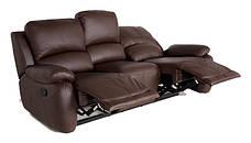 Шкіряний диван в комплекті з кріслом - DALLAS. Реклайнер (3+1), фото 2
