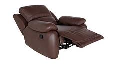 Шкіряний диван в комплекті з кріслом - DALLAS. Реклайнер (3+1), фото 3