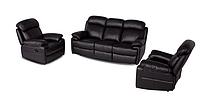 Комплект кожаной мебели с реклайнером ORLANDO (3+1+1)