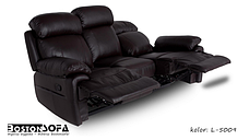 Комплект кожаной мебели с реклайнером ORLANDO (3+1+1), фото 2