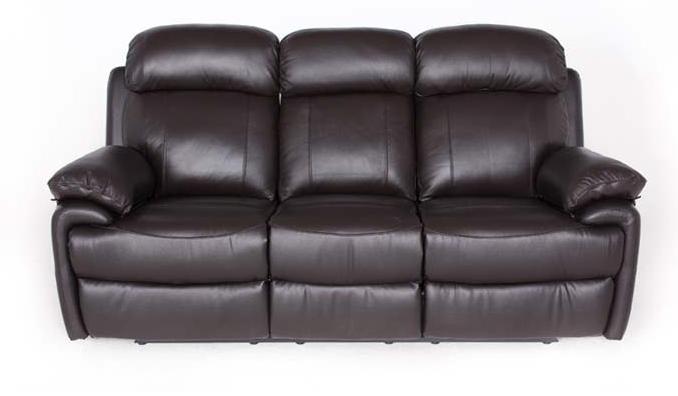Кожаный диван реклайнер Orlando, диван реклайнер, мягкий диван, мебель из кожи, мягкая мебель