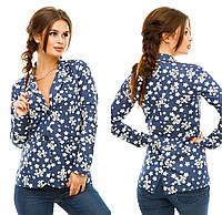 Джинсовый пиджак женский 052 Багет