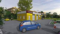 СТО-Автомойка на 3 авто 17х8 (Коробка здания)