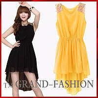 Шифоновое платье ~Шлейф-пайетки~ цвет желтый