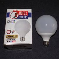 Светодиодная лампочка Horoz Electric LED 16W E27 6400K шарик LUX-536164