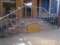 Ограждение лестниц из нержавейки в Харькове