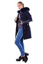 Женское зимнее кашемировое пальто-трансформер 2 в 1 арт. Твикс зима 4314, фото 3