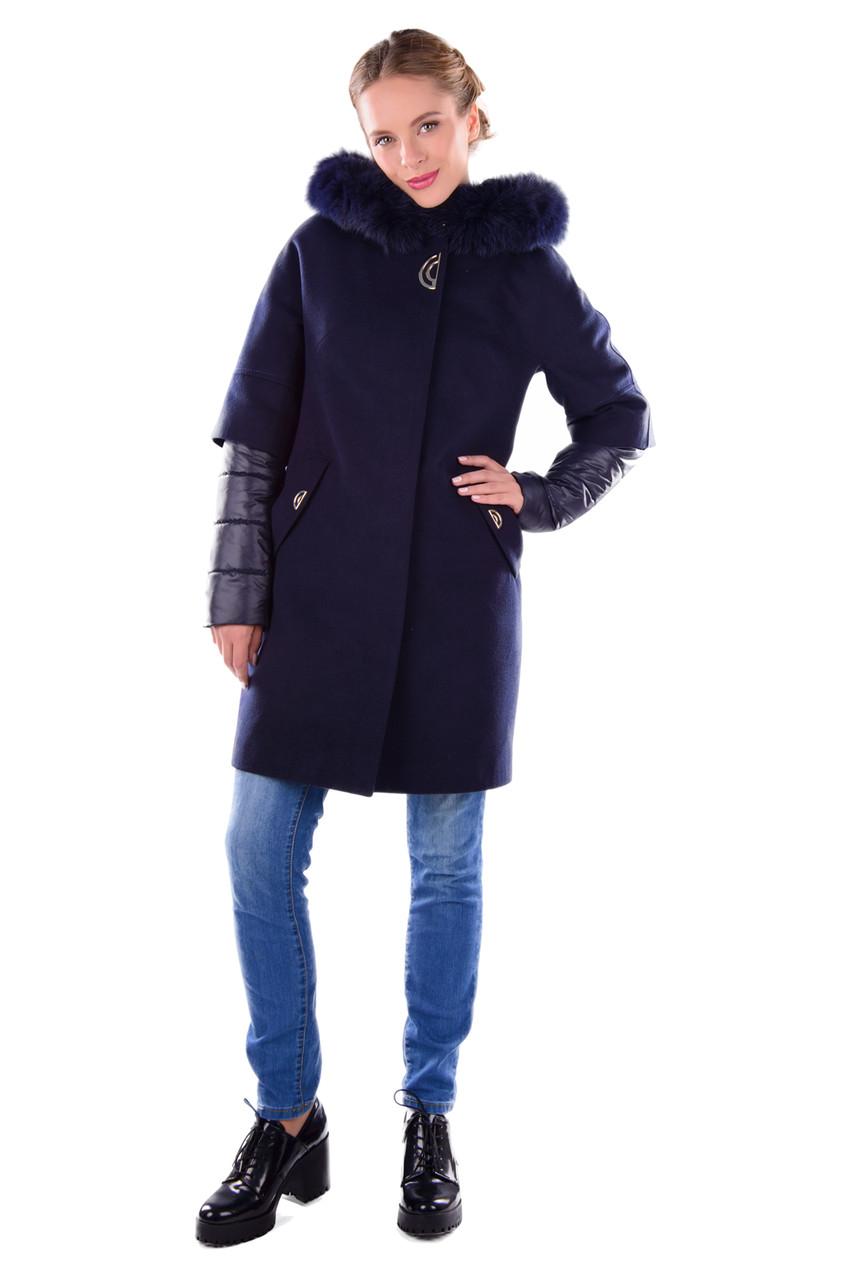 Женское зимнее кашемировое пальто-трансформер 2 в 1 арт. Твикс зима 4314