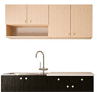 Кухонный гарнитур модульный 1,6 метра венге  (кухонный комплект мебели)