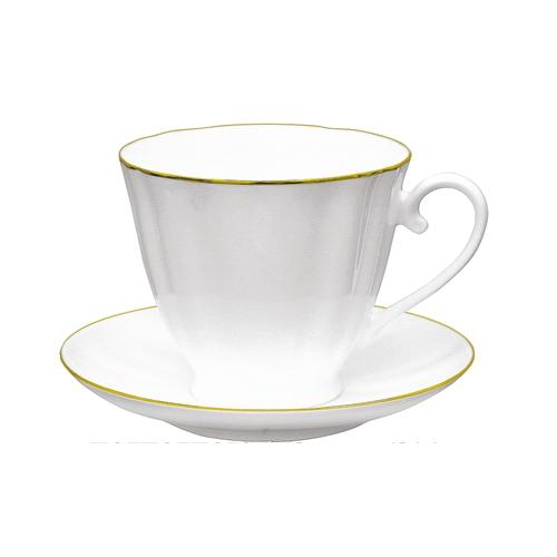 Чашка чайная с блюдцем И.Ф.З. Гвоздика Золотой кантик 200 мл 13929