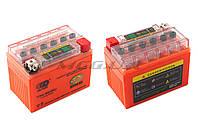 """Аккумулятор на мототехнику   12V 4А   гелевый   """"OUTDO""""   (114x71x88, оранжевый, с индикатором заряда)"""