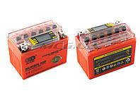 """Аккумулятор на мототехнику   12V 4А   гелевый   """"OUTDO""""   (114x71x88, оранжевый, с индикатором заряда, вольтметром)"""
