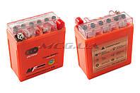 "Аккумулятор на мототехнику   12V 5А   гелевый (высокий)   ""OUTDO""   (119x60x128, оранжевый, mod:YTX5AL-BS)"