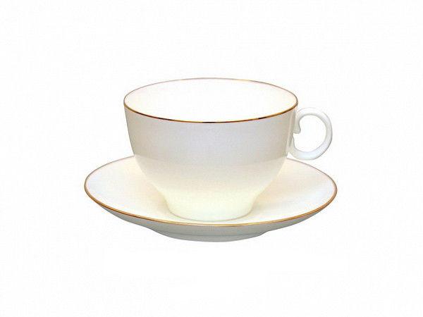 Чашка чайная с блюдцем И.Ф.З. Яблочко Золотой кантик 160 мл 15349