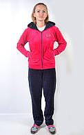 Женский брендовый спортивный костюм - (синий/розовый)