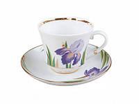 Чашка чайна з блюдцем В. Ф. З. Банкетна Іриси 220 мл 17478