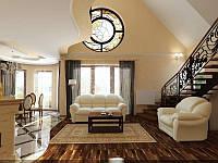 Дизайн холла и прихожей (коридора) с лестницей № 58