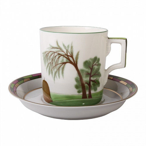 Чашка чайная с блюдцем И.Ф.З. Гербовая Лето 220 мл 21777