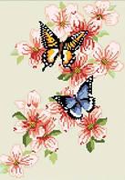 """Мозаика квадратными камнями """"Бабочки""""  28*40 см"""