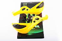 """Защита рук на руль на мототехнику   """"XJB""""   (mod:1, MONSTER ENERGY, желтые)"""