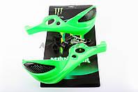 """Защита рук на руль на мототехнику   """"XJB""""   (mod:1, MONSTER ENERGY, зеленые)"""