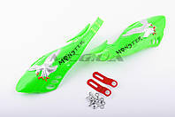 """Защита рук на руль на мототехнику   """"XJB""""   (mod:3, MONSTER ENERGY, зеленые)"""