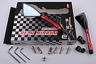 """Зеркала на мототехнику   """"CNC""""   (красные, треугольные, алюм., антиблик, переход., инструм.)"""