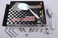 """Зеркала на мототехнику   """"CNC""""   (серебро, овальные, алюм., антиблик, переход., инструм.)"""