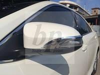 Хром накладки на зеркала уголки Toyota Camry xv50 (Тойота Камри 50 кузов 2011г+)