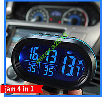 Автомобильные часы с датчиком температуры и вольтм