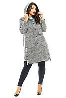 Женское пальто большого размера 341 Багет