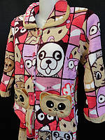 Детские пижамы махровые теплые с карманами