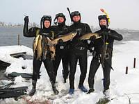 Особенности подводной охоты в зимний период