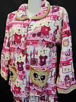 Теплые зимние пижамы детские купить оптом