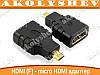 HDMI (F) - micro HDMI переходник конвертер
