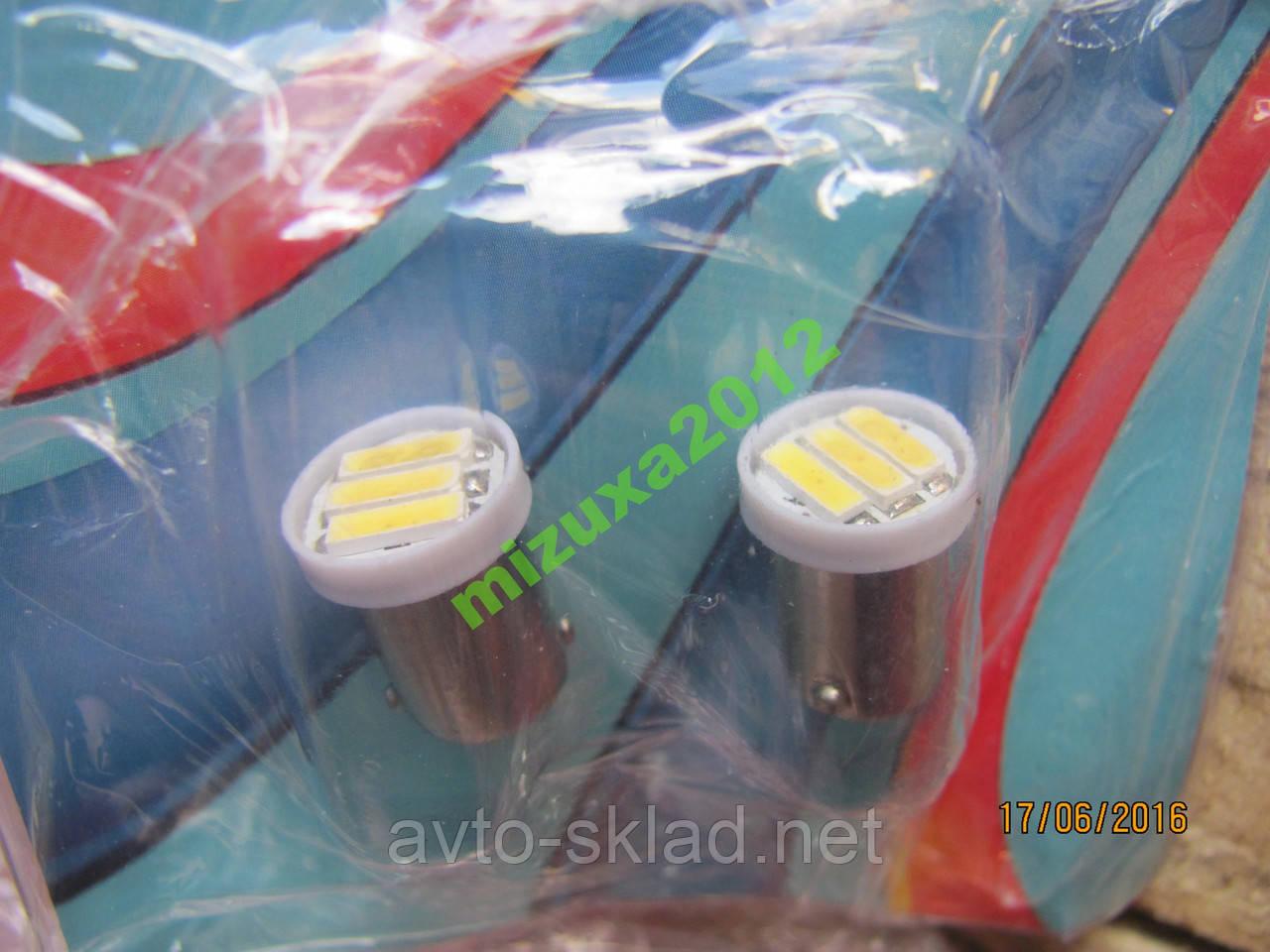 Світлодіод цокольні габаритів 3SMD діодів білі 2
