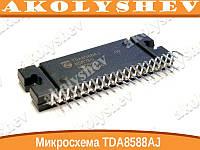 Микросхема TDA8588AJ, УНЧ с функцией стабилизатора напряжения 4x55Вт (14.4В/2 Ом), 26дБ, I2C-bus, 5В/3.3В