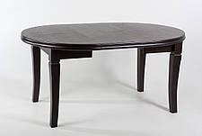 Стол-трансформер 310 обеденный с круглой столешницей Лас-Вегас ТМ Биформер,цвет  орех темный, фото 2