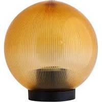 Светильник сферический (пластиковый) 815 Шар дымчатый ребристый