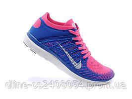 Женские кроссовки Nike Free Run Flyknit Blue Pink
