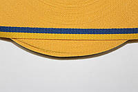 ТЖ 10мм репс (50м) желтый+василек, фото 1