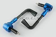 """Отбойники руля (пара) на мототехнику  с креплениями под защиту рук   """"RIDE IT""""   (синие)"""