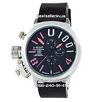 Часы U-Boat Italo Fontana Silver/Black/Red. Replica, фото 1