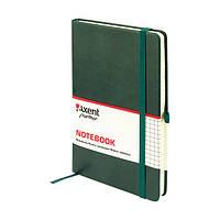 Блокнот на резинке А5 Axent Partner Lux 8202 (96 листов) кремовая бумага, обложка твердая, зеленый